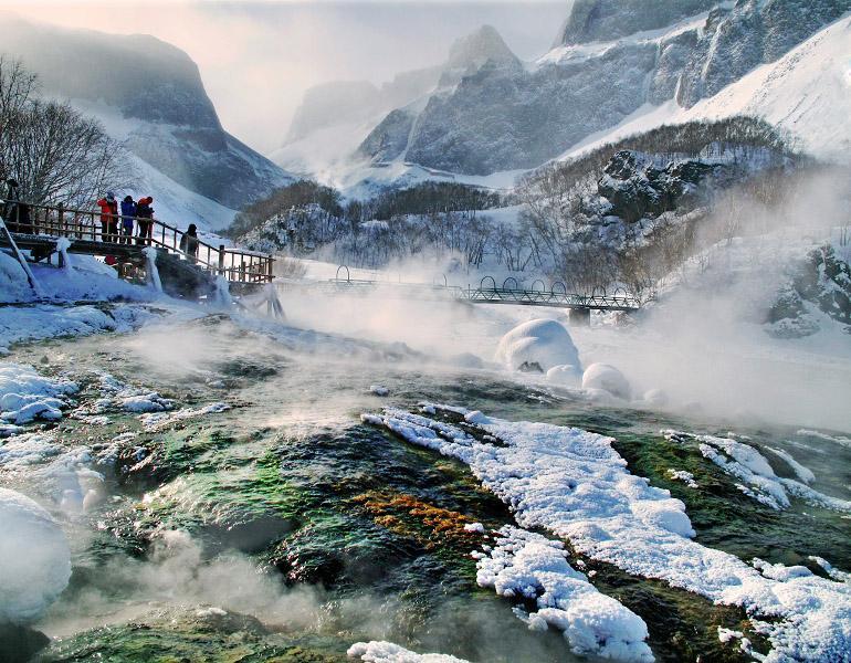 桦甸白山湖,长白山魔界;松花江上长白岛观野鸭;冰雪香格里拉长白山